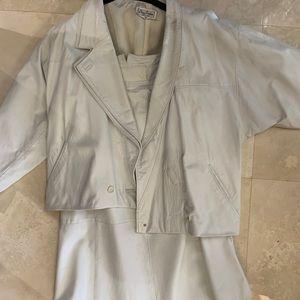 Alan Austin Italian leather jacket and skirt